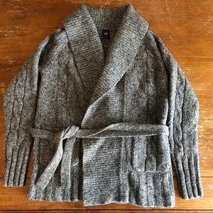 Cozy tie sweater